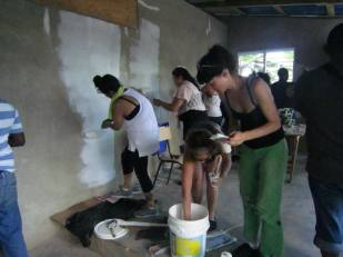 Painting the computer lab with community