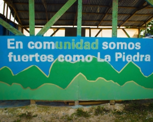 """In Community we are strong like La PIedra"""