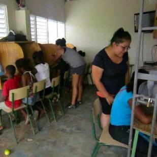 Computer classes for Guanin Volunteers